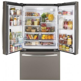 GE 27.0 Cu. Ft. Bottom Freezer-French Door Refrigerator GNE27JMMES