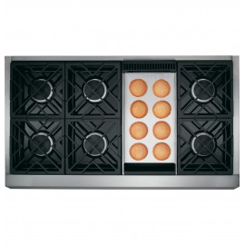 "GE Cafe 48"" Gas Rangetop CGU486P2MS1"