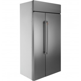 GE Cafe Built-In Side-By-Side Refrigerator- No Panel Required CSB42WP2NS1