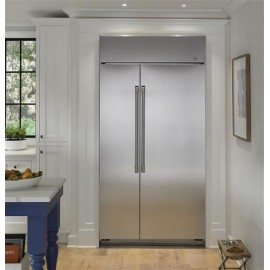 GE Cafe Built-In Side-By-Side Refrigerator- No Panel Required CSB42WSKSS