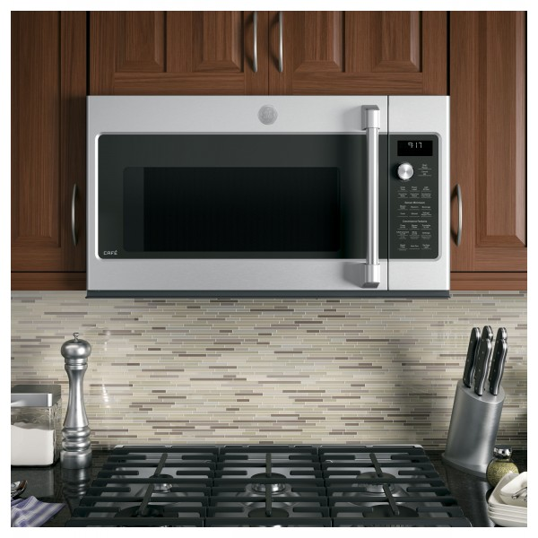GE CAFE OVER-THE-RANGE MICROWAVE/CONVECTION 1.7 CVM9179SLSS