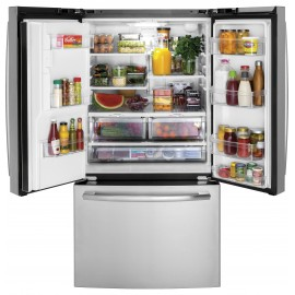 GE 25.5 Cu. Ft. Bottom Freezer-French Door Refrigerator GFE26JSMSS