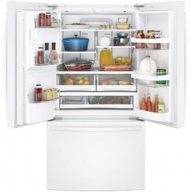 GE 27.8 Cu. Ft. Bottom Freezer-French Door Refrigerator GFE28GGKBB,WW