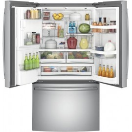 GE 27.8 Cu. Ft. Bottom Freezer-French Door Refrigerator GFE28HSKSS