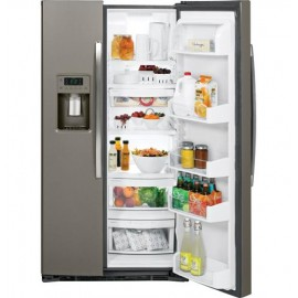 GE 25.3 Cu. Ft. Side-By-Side Refrigerator GSE25HMHES