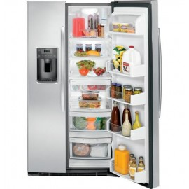 GE 25.3 Cu. Ft. Side-By-Side Refrigerator GSE25HSHSS