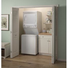 "GE UNITIZED 27"" WASHER/DRYER GUD27ESSMWW"