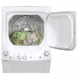 "GE UNITIZED 27"" WASHER/DRYER GUD27GSSMWW"