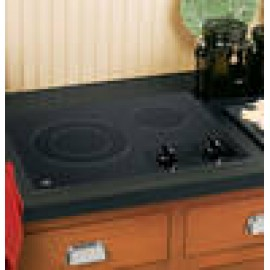 "GE 21"" Two - Burner Cooktop - Radiant JP256BMBB"