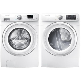 Samsung 4.2-cu ft High-Efficiency Stackable Front-Load Washer WF42H5000AW