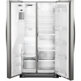 Whirlpool 20.6-cu ft Counter-Depth Refrigerator with Ice Maker Stainless Steel-WRS571CIHZ